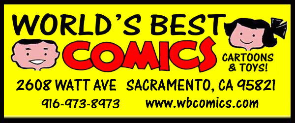 World's Best Comics and Toys Logo Sacramento